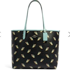 COACH F80235 PARTY OWL PRINT REVERSIBLE CITY TOTE